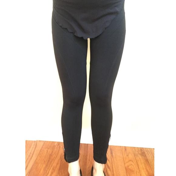 c623f5a70837df David Lerner Pants - David Lerner Black Moto Stretch Zip Ankle Leggings